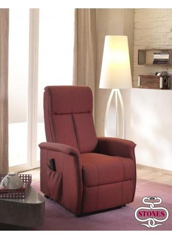 Morgana Poltrona Relax in Lino Rosso Stones