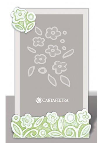 Portafoto profumato Prati in fiore verde pbh15/18/24ve Cartapietra
