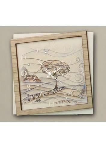 Orologio in ceramica e legno con stampa a colori Paesaggio PAE-39 PAE-49 Paesaggio Negò