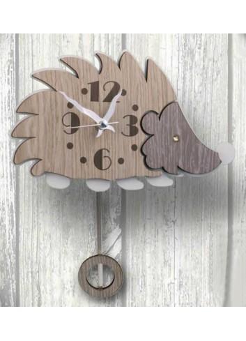 Orologio a pendolo Riccio in legno e metallo con strass PNN-04 Pendoli Negolotti Negò