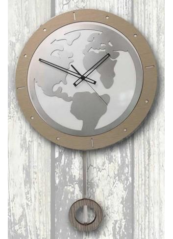 Orologio a pendolo World in legno e metallo PND-05 Pendoli Negò