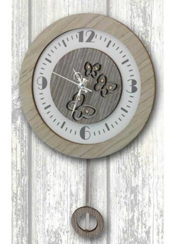 Orologio a pendolo In Time legno e metallo con strass PND-04 Pendoli Negò