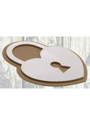 Sottopentola in metallo con applicazione lucchetto LUC-S Lucchetti Negò