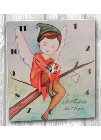 Orologio in ceramica con stampa Folletto BSM-03 Bosco Magico Negò