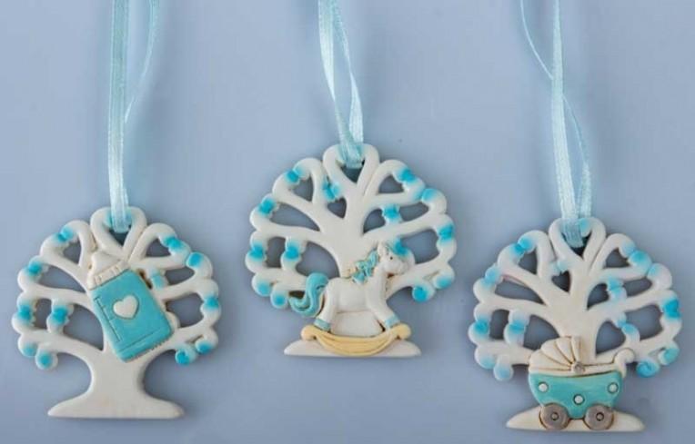 Decorazione albero della vita bimbo in resina 3 modelli assortiti B9297 Kharma Living