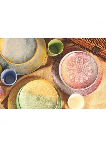 Servizio Tavola Canvas 18 pezzi in porcellana e gres 2402510 Villa D'este Home Tivoli