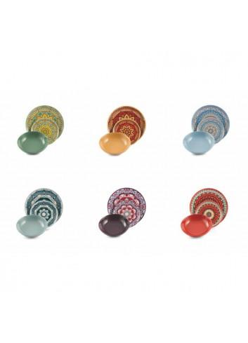 Servizio Tavola Cala Saona 18 pezzi in porcellana e gres 2313703 Villa D'este Home Tivoli