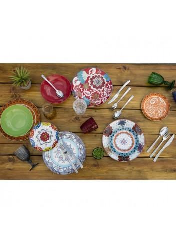 Servizio Tavola Folie 18 pezzi in porcellana e gres 2413684 Villa D'este Home Tivoli