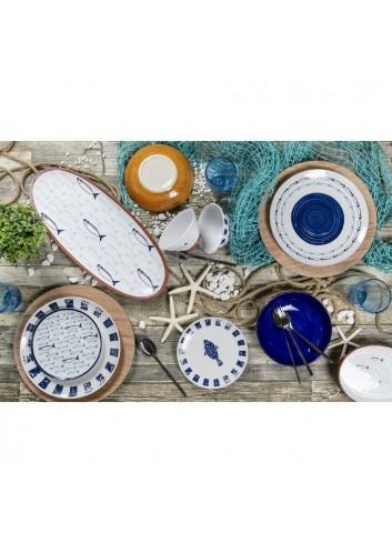 Servizio Tavola El Pescado 18 pezzi in porcellana e gres 2193923 Villa D'este Home Tivoli