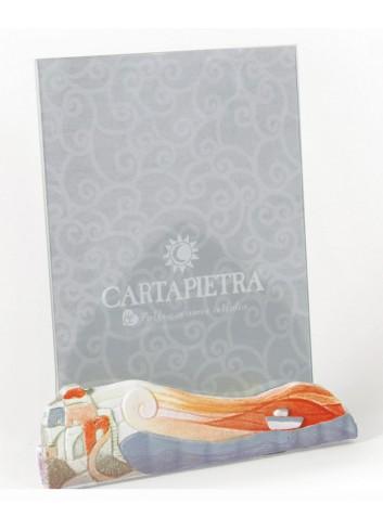 Portafoto orientabile 18 x 24 cm decoro Marina Arancio R182426ar Paesaggi sospesi Cartapietra