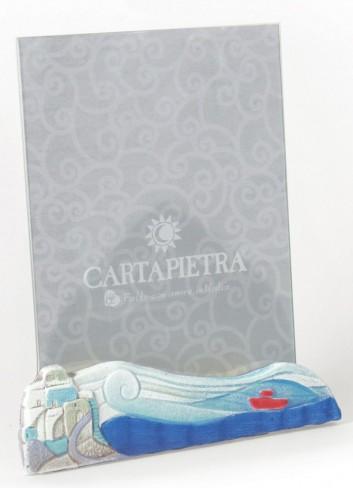 Portafoto orientabile 18 x 24 cm decoro Marina Acqua R182426aq Paesaggi sospesi Cartapietra
