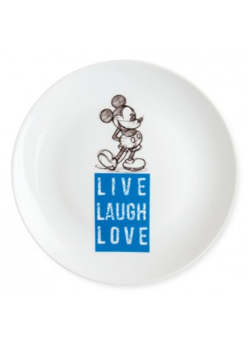 Piatto dolce Mickey Ø 19 cm Blu PWM61LL/1B Live Laugh Love Egan