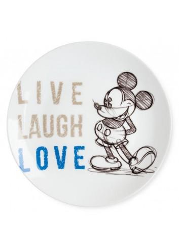 Piatto portata Mickey Ø 27 cm Blu PWM37LL/5B Live Laugh Love Egan