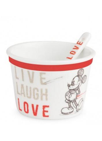 Coppetta gelato con cucchiaino Mickey Ø 9 cm Rosso PWM92LL/1S Live Laugh Love Egan