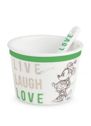 Coppetta gelato con cucchiaino Minnie Ø 9 cm Verde PWM92LL/1V Live Laugh Love Egan
