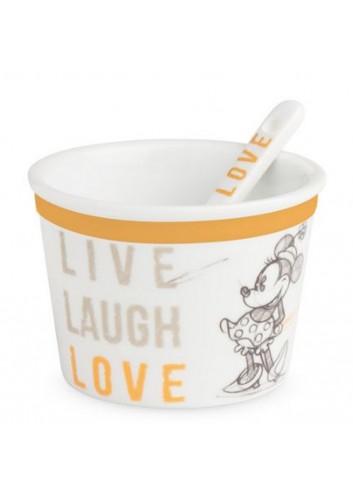 Coppetta gelato con cucchiaino Minnie Ø 9 cm Arancio PWM92LL/1A Live Laugh Love Egan