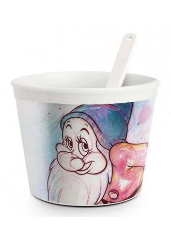 Coppetta gelato con cucchiaino Mammolo Ø 9 cm PWS92/1MA Sette Nani Egan