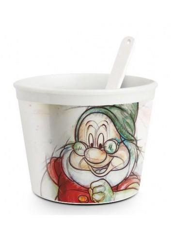 Coppetta gelato con cucchiaino Dotto Ø 9 cm PWS92/1DO Sette Nani Egan