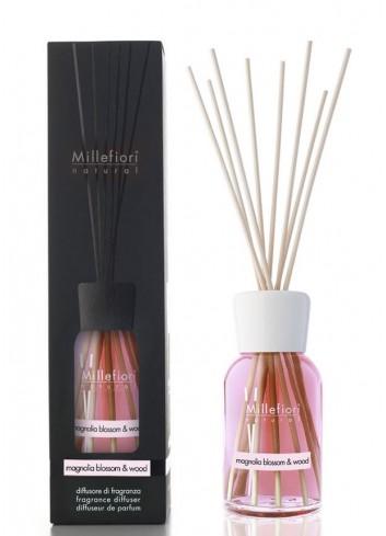 Diffusore di fragranza a bastoncini Magnolia Blossom & Wood 7MDMW-7DDMW-7DIMW Natural Millefiori Milano