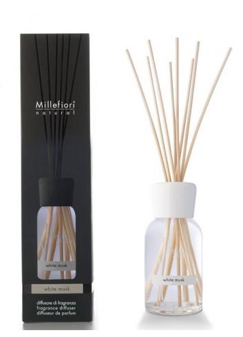 Diffusore di fragranza a bastoncini Muschio Bianco 7MDMB-7DDMB-7DIMB Natural Millefiori Milano