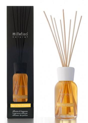 Diffusore di fragranza a bastoncini Legni e Fiori d'Arancio 7MDFA-7DDFA-7DIFA Natural Millefiori Milano