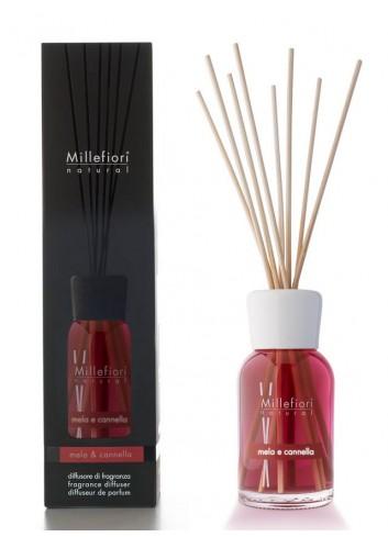 Diffusore di fragranza a bastoncini Mela e Cannella 7MDMC-7DDMC-7DIMC Natural Millefiori Milano