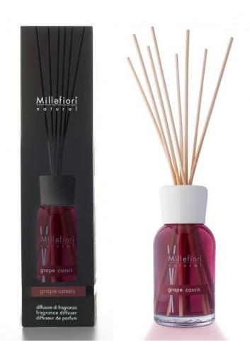 Diffusore di fragranza a bastoncini Grape Cassis 7MDGC-7DDGC-7DIGC Natural Millefiori Milano