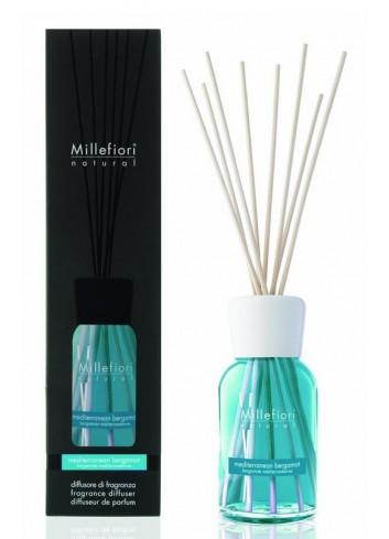 Diffusore di fragranza a bastoncini Bergamotto Mediterraneo 7MDBM-7DDBM-7DIBM Natural Millefiori Milano