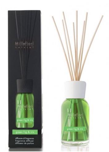 Diffusore di fragranza a bastoncini Green Fig & Iris 7MDGI-7DDGI-7DIGI Natural Millefiori Milano