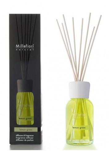 Diffusore di fragranza a bastoncini Lemon Grass 7MDLG-7DDLG-7DILG Natural Millefiori Milano
