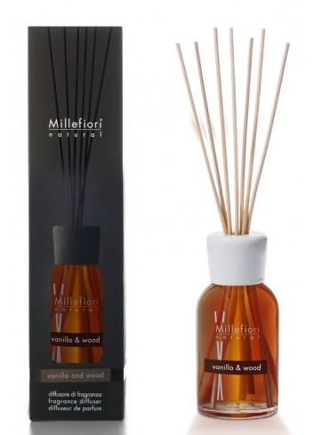 Diffusore di fragranza a bastoncini Vanilla & Wood 7MDDV-7DDDV-7DIDV Natural Millefiori Milano