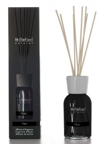 Diffusore di fragranza a bastoncini Nero 7MDNR-7DDNR-7DINR Natural Millefiori Milano
