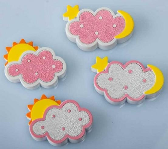Magnete nuvoletta rosa 4 modelli assortiti B9266 Kharma Living Living