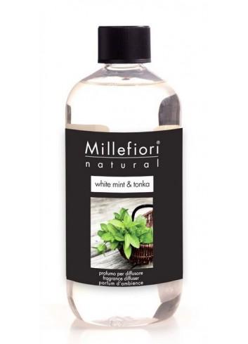 Ricarica per diffusore a bastoncino White Mint & Tonka 7REMWT-7REWT Natural Millefiori Milano