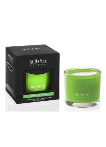 Candela profumata 180 gr Green Fig & Iris 7MCSGI Natural Millefiori Milano