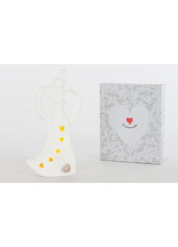 Coppia Sposi Led H. 20 cm D6225 Cuore di Luce Cuorematto