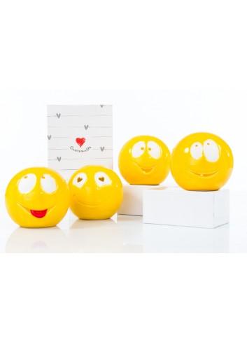 Lampada led Smile 4 modelli assortiti Ø 10 cm D6237 Cuore di Luce Cuorematto
