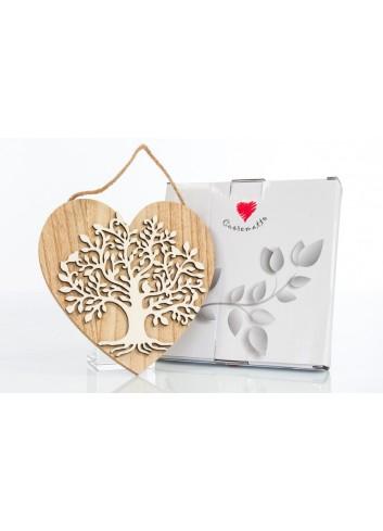 Cuore appendibile in legno con Albero della vita 15 x 15 cm D6217 Cuoregaio Cuorematto