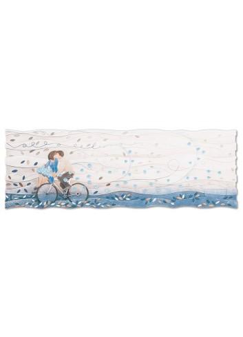 Quadro Vieni via con me Blu zaffiro 150 x 50 cm 111578bz Cartapietra
