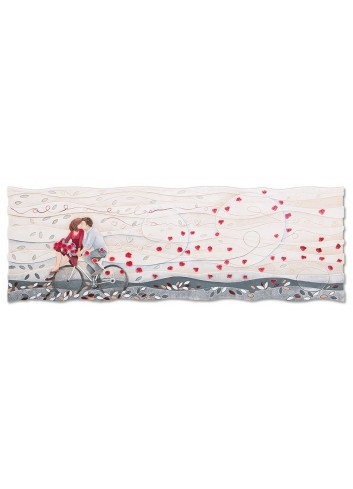 Quadro Vieni via con me Rosso 150 x 50 cm 111578ro Cartapietra