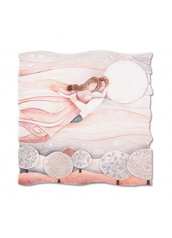 Formella Sogno Rosa corallo 50 x 50 cm 110577rc Cartapietra