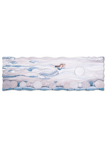 Quadro Sogno Blu zaffiro 150 x 50 cm 111577bz Cartapietra