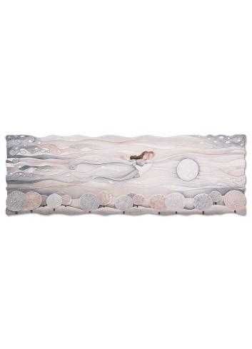 Quadro Sogno Neutro 150 x 50 cm 111577nr Cartapietra