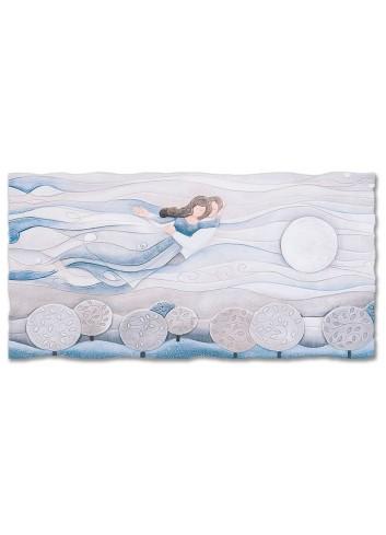 Quadro Sogno Blu zaffiro 90 x 45 cm 110977bz Cartapietra