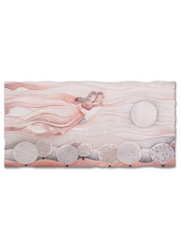 Quadro Sogno Rosa corallo 90 x 45 cm 110977rc Cartapietra