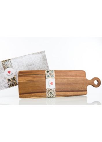 Tagliere rettangolare in legno  55 x 17 cm D6205 Cuordamalfi Cuorematto