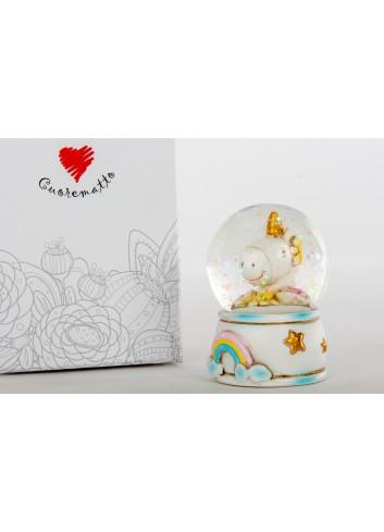 Unicorno palla vetro D6258 Cuordincanto Cuorematto