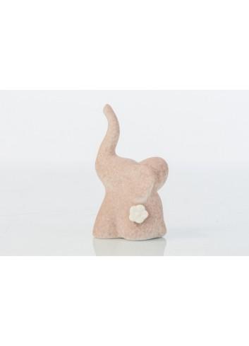 Elefantino Porta Anelli in bisquit con fiore 4 x 4 x 8,5 cm D6233 Cuor per Sempre Cuorematto