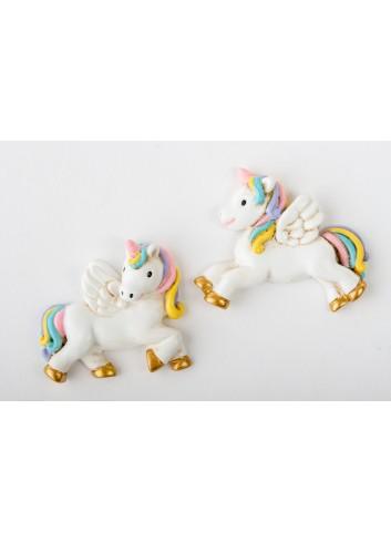 Magnete unicorno 2 modelli assortiti D6256 Cuordincanto Cuorematto