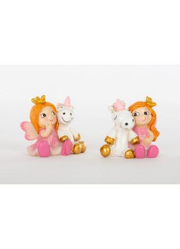 Fatina con unicorno mini 2 modelli assortiti D6254 Cuordincanto Cuorematto